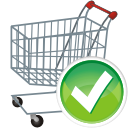 Shopping cart accept icon