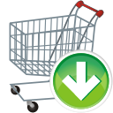shopping cart down icon