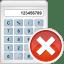 Calculator-remove icon