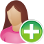 She-user-add icon