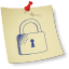 Padlock-locked icon