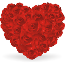 Heart-of-roses icon