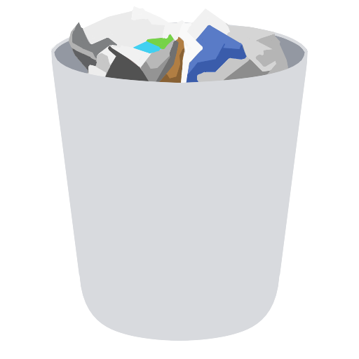 Trash Full Icon | Yosemite Flat Iconset | dtafalonso