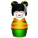 Geisha-Korea-green icon