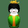 Geisha-China-green icon