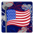 Independence Day 3 Flag Fireworks icon