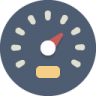 Speedometer Icon | Beautiful Flat Iconset | Elegantthemes