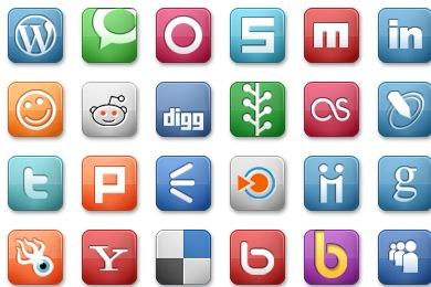 Elegant Social Media Icons