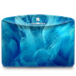 Folder Abstract Blue Smoke icon
