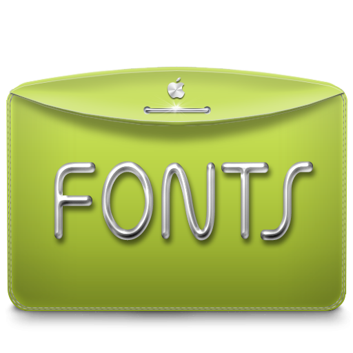 Folder Text Fonts icon