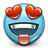 Emoticon Love Heartshaped Eyes icon