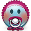 Emoticon Baby Newbie Pacifier icon