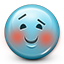 Emoticon Blush Blushing icon