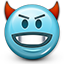 Emoticon Devil Devilish Evil icon