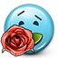 Emoticon Rose Gift Love icon