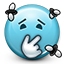 Emoticon Stinky Disgusting Flies icon