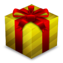 Gift Box Gold icon