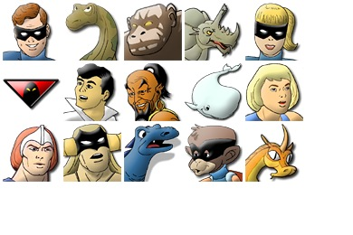 Hanna Barbera's Heroes Icons