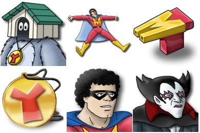 Mightyman And Yukk Icons