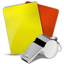 soccer referee icon