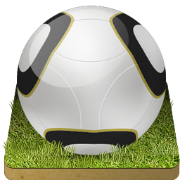 Soccer ball grass icon