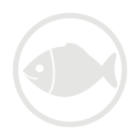 Fish allergy grey icon