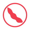 Soya allergy red icon