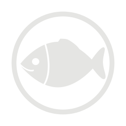 Fish allergy grey icon