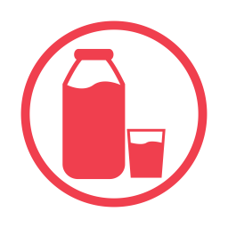 Milk allergy red icon