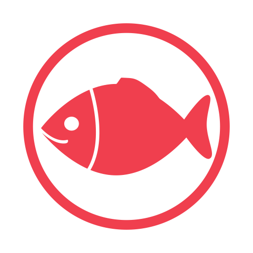 Fish-allergy-red icon