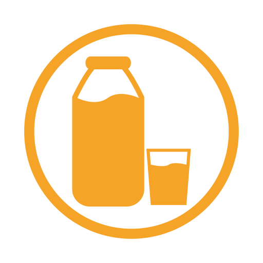 Milk allergy amber icon