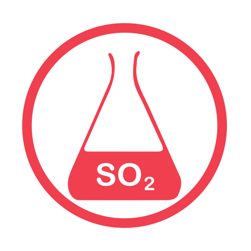 Sulphurdioxide allergy red icon