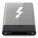 Grey Thunderbolt W icon