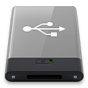 Grey USB W icon