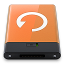 Orange Backup W icon