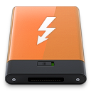 Orange Thunderbolt W icon