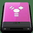 Pink Firewire W icon