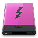 Pink Thunderbolt B icon