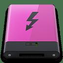 Pink Thunderbolt B icon