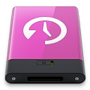 Pink Time Machine W icon