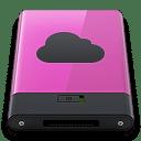Pink iDisk B icon