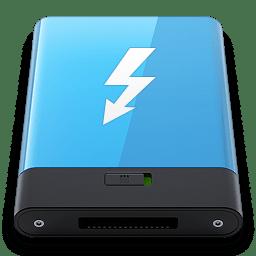 Blue Thunderbolt W icon