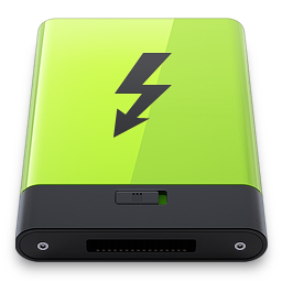 Green Thunderbolt icon