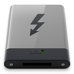 Grey Thunderbolt B icon