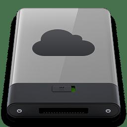 Grey iDisk B icon