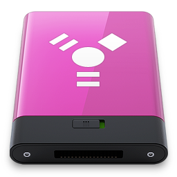 Pink Firewire W icon