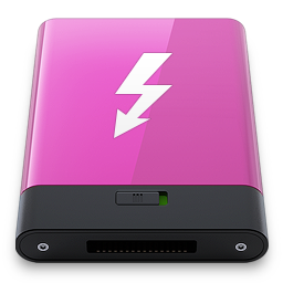 Pink Thunderbolt W icon