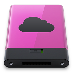 Pink iDisk B icon