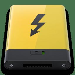 Yellow Thunderbolt icon