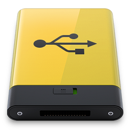 Yellow USB icon